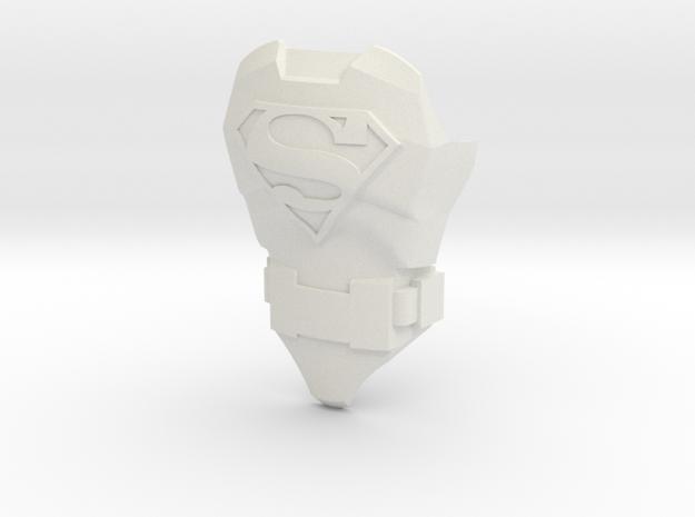 Superman Body | CCBS Scale in White Natural Versatile Plastic