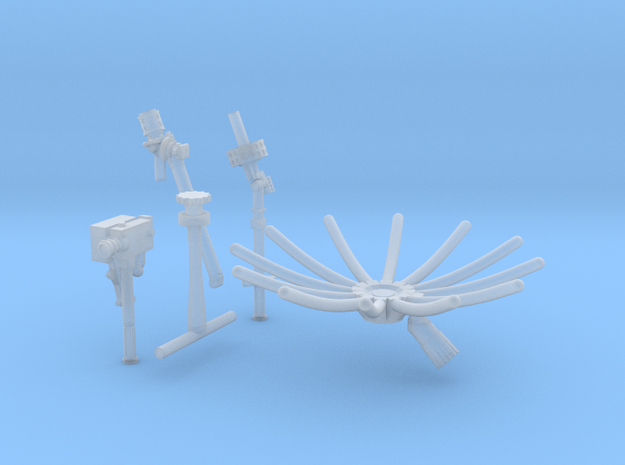 11beg-12a-13a-Antennas and 16 mm camera in Smooth Fine Detail Plastic