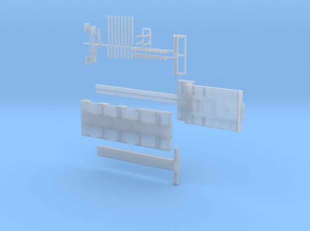 MPA 03 Tieflader ähnlich Goldhofer 3 achs 1-Tele in Smooth Fine Detail Plastic