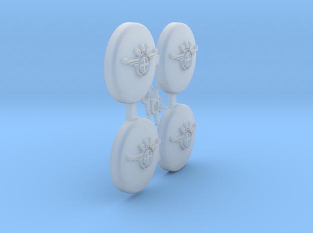 DAF A117 Wieldoppen en DAF embleem (1:15,5) in Smooth Fine Detail Plastic