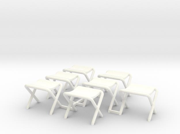 Lost in Space - Campsite Canopy Seats in White Processed Versatile Plastic