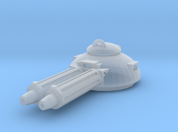 Design 1 double MG turret in Smooth Fine Detail Plastic