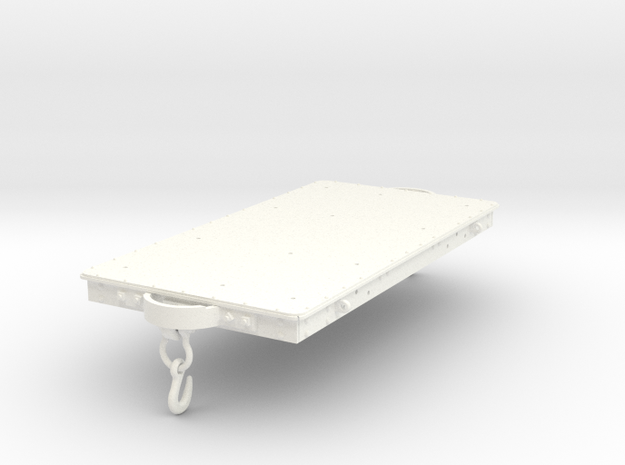 FRC07 Festiniog Railway Short Slab Wagon SM32 in White Processed Versatile Plastic