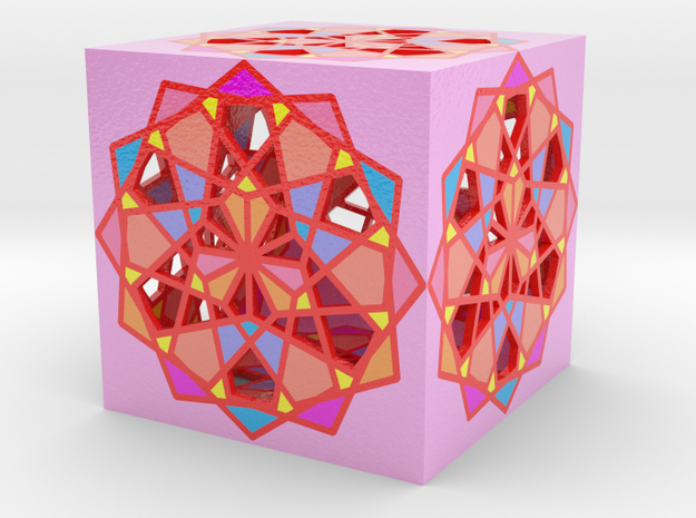 Cube color 3. in Glossy Full Color Sandstone