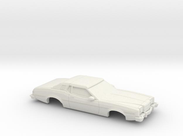 1/25 1974-76  Ford Elite Shell in White Natural Versatile Plastic