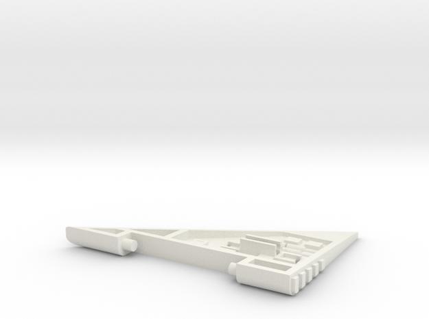 Starcom - Starhawk - wing left  in White Natural Versatile Plastic
