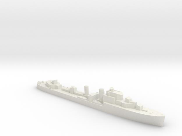 HMS Hurricane destroyer 1:1200 WW2 in White Natural Versatile Plastic