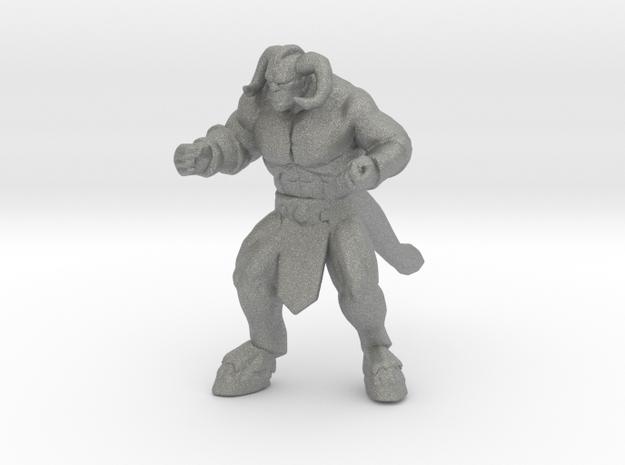 Motaro Minotaur miniature model fantasy games dnd in Gray PA12