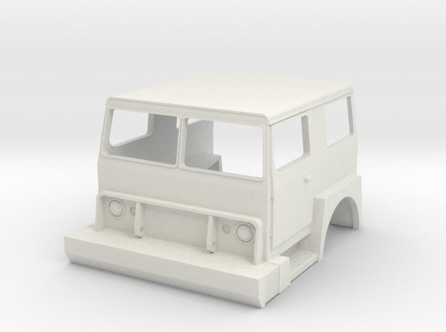 1/25 Hendrickson 1871 Cab in White Natural Versatile Plastic