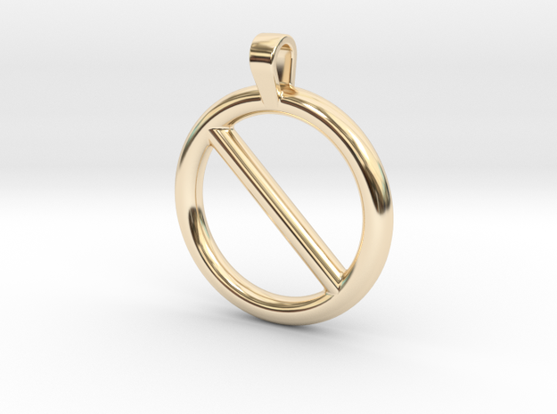 Nope Pendant in 14k Gold Plated Brass