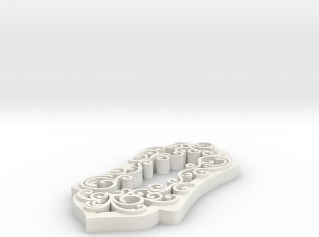 Swirl Pendant Partial Covered in White Natural Versatile Plastic