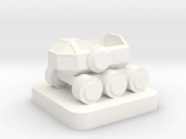 Mini space program, Crew Rover, rider slot in White Processed Versatile Plastic