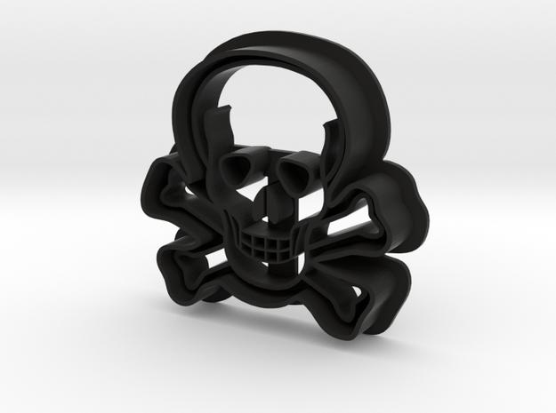 Skull Cookie Cutter in Black Natural Versatile Plastic