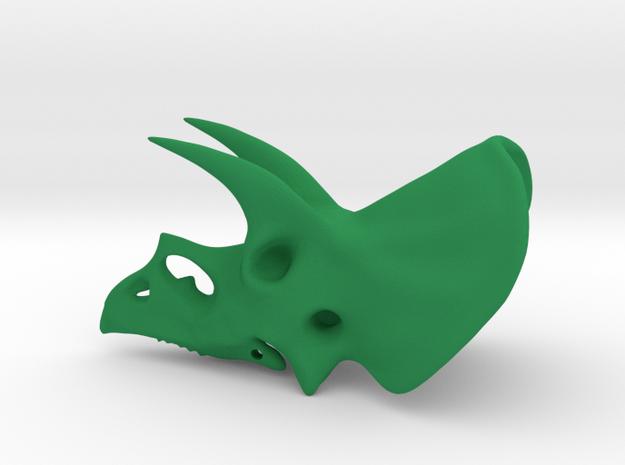 Triceratops Skull in Green Processed Versatile Plastic