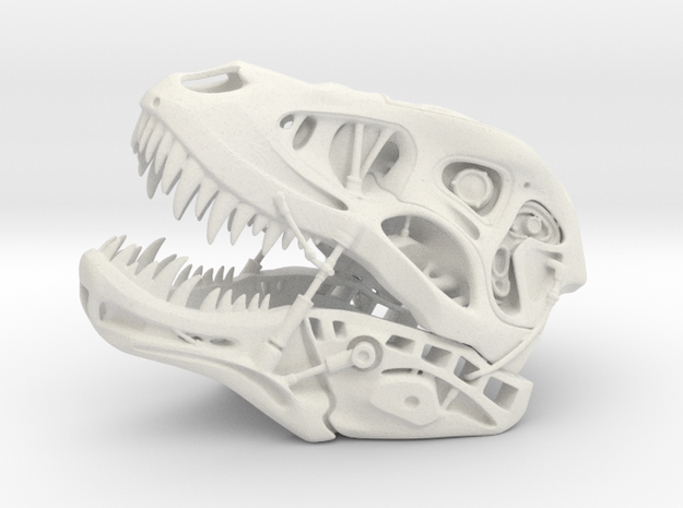 Terminator REX (small scale) in White Natural Versatile Plastic