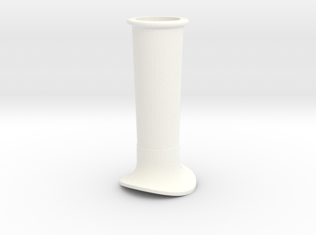 """3/4"""" Scale Juliet B-4 Smoke Stack in White Strong & Flexible Polished"""