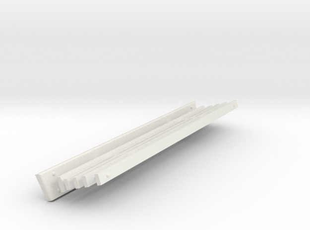 Victorian Railways Station Seat Boards 1:19 Scale in White Natural Versatile Plastic