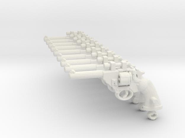 PoliceMK4_OpticSET revolver in White Natural Versatile Plastic