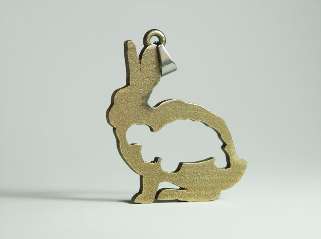 Tortoise and the Hare Necklace Pendant in Stainless Steel