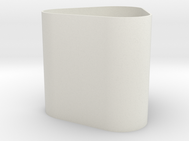 lawal 108 mm v4 extruded rounded triangle 1 in White Natural Versatile Plastic