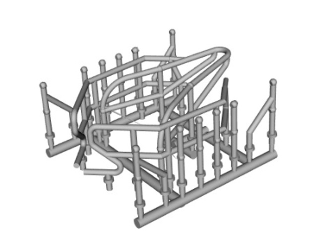 Shannon Lifeboat Part Railings & Posts in Gray PA12