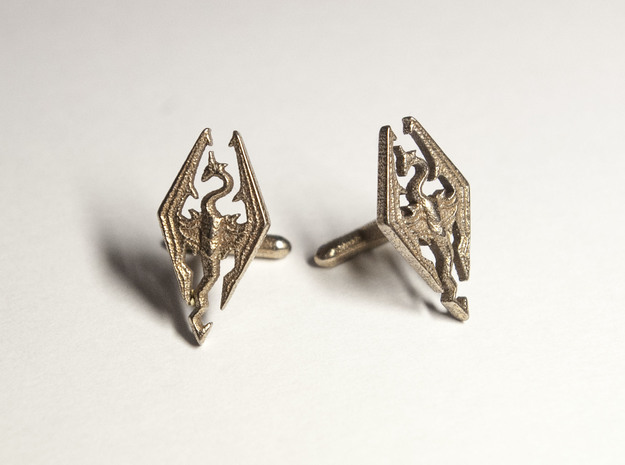 Skyrim Cufflinks in Stainless Steel