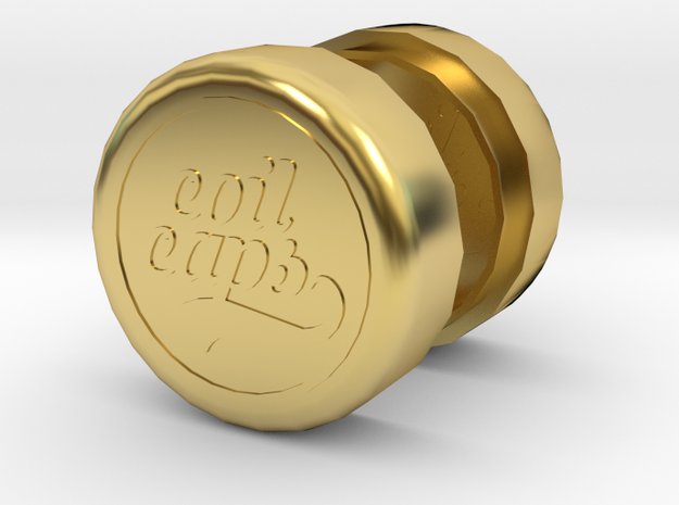 COIL CAPS in Polished Brass