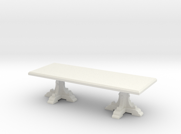 Italian feast table in 1:24 scale in White Natural Versatile Plastic