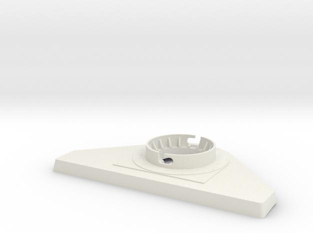 TorpedoTubeElcoSTBD20thRearBase in White Natural Versatile Plastic