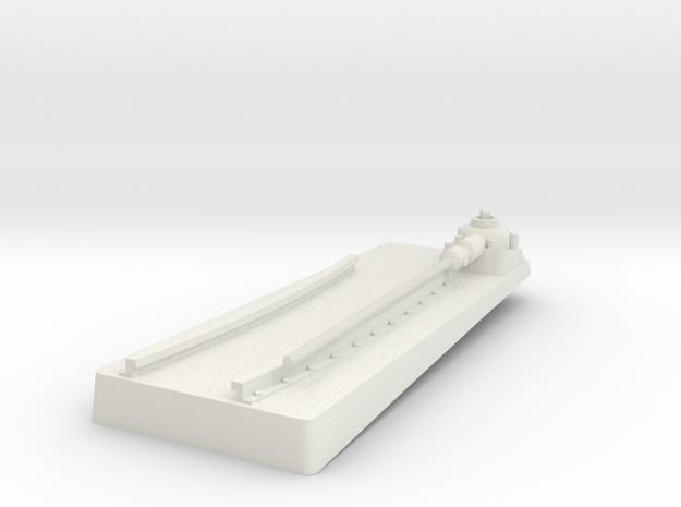 TorpedoTubeElcoSTBD20thFrontBase in White Natural Versatile Plastic