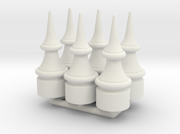 US&S Semaphore Finial 1:22.5 scale Pack in White Natural Versatile Plastic