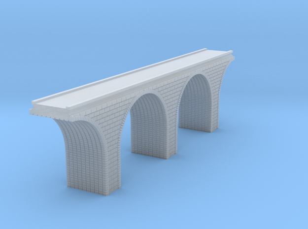 T Scale Arch Bridge Double Track 1:450 Scale in Smooth Fine Detail Plastic