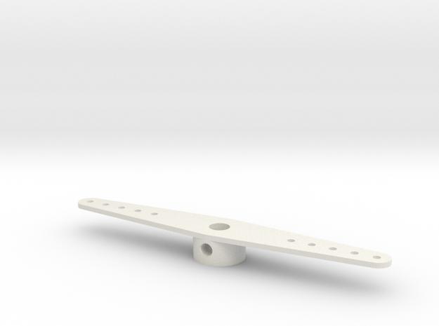 rudderposttiller4mm in White Natural Versatile Plastic