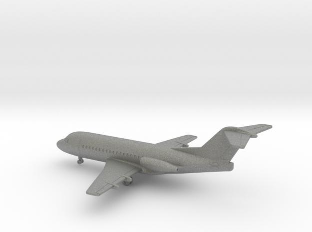 Fokker F28-1000 Fellowship in Gray PA12: 1:350