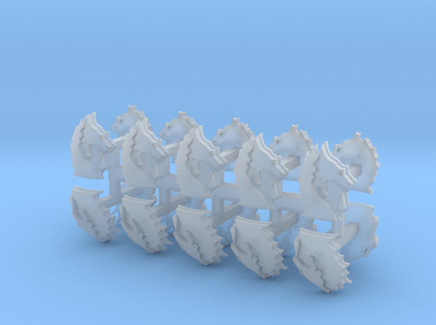 Bloodied Dragons shoulder pad icons x20 R #1 in Smoothest Fine Detail Plastic