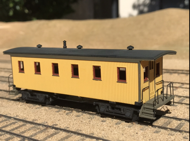 Virginia & Truckee caboose coach 10 in Smooth Fine Detail Plastic