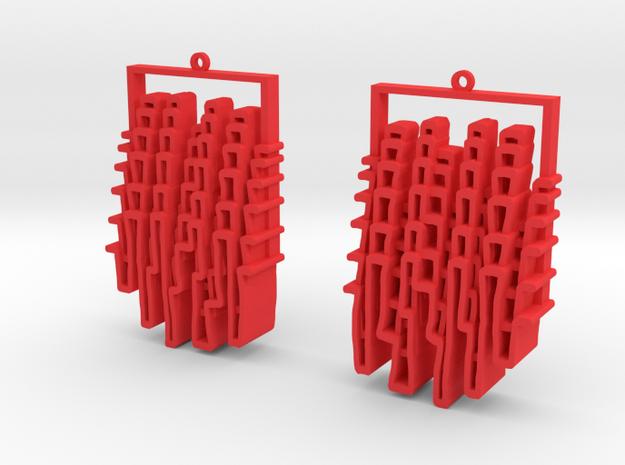 Alleys/Skylines Earrings in Red Processed Versatile Plastic