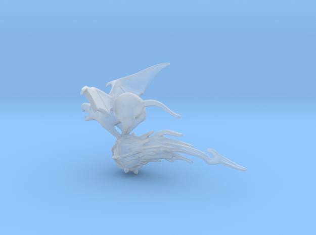 SMALL Flying Rat 2 in Smooth Fine Detail Plastic