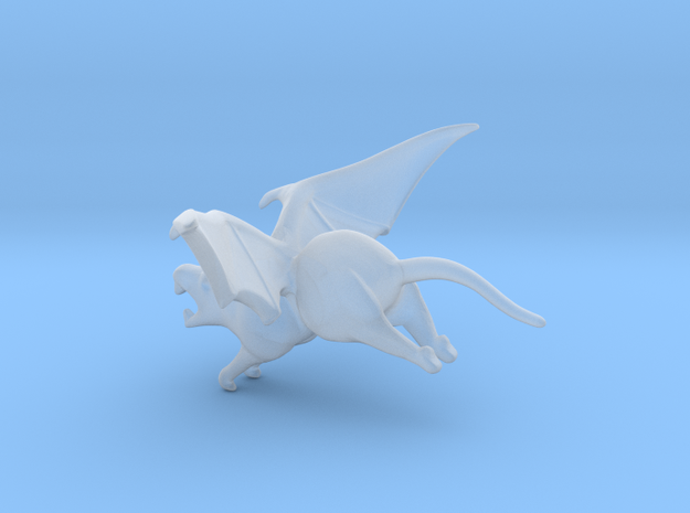SMALL Flying Rat 3 in Smooth Fine Detail Plastic