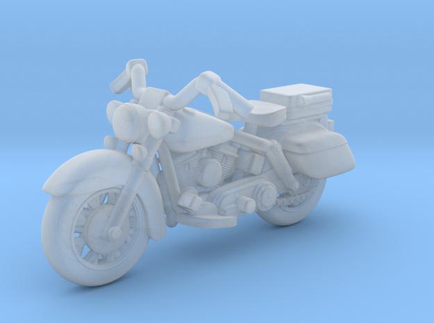 Police Harley Davidson 1:87 HO in Smooth Fine Detail Plastic