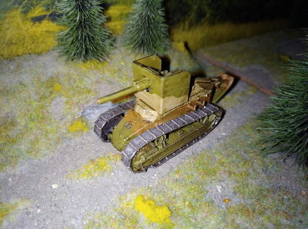 1/72nd scale Renault Ft antitank in Smooth Fine Detail Plastic