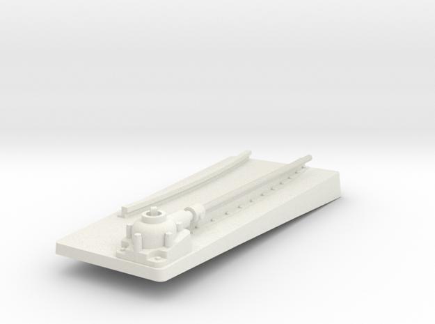 TorpedoTubeElcoPORT16thFrontBase in White Natural Versatile Plastic
