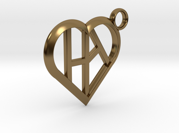 Heart of love keychain [customizable] 3d printed
