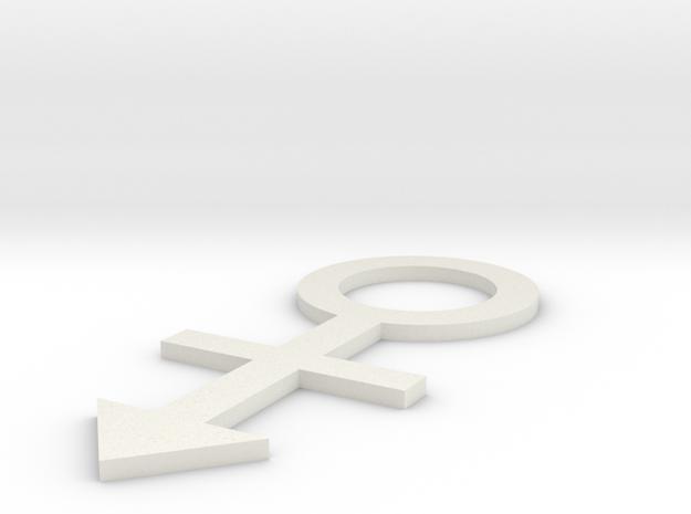 lawal 108 mm androgynous symbol  in White Natural Versatile Plastic