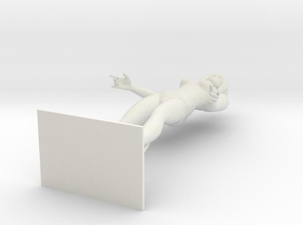 Mannequin Barabara Female with BOB CUT 1:24th   in White Natural Versatile Plastic