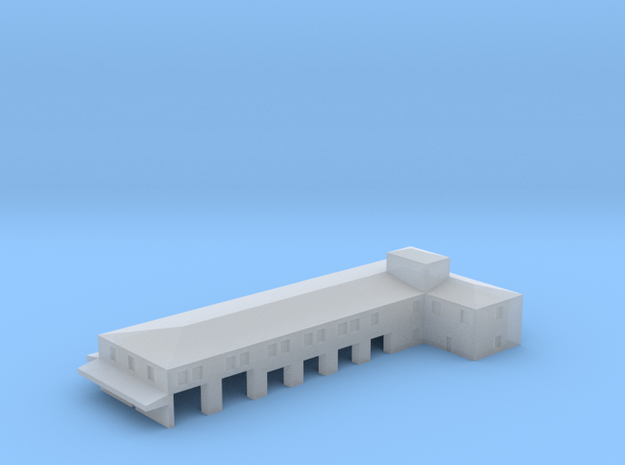 Airport Fire Station Doors Open 1:700 in Smooth Fine Detail Plastic