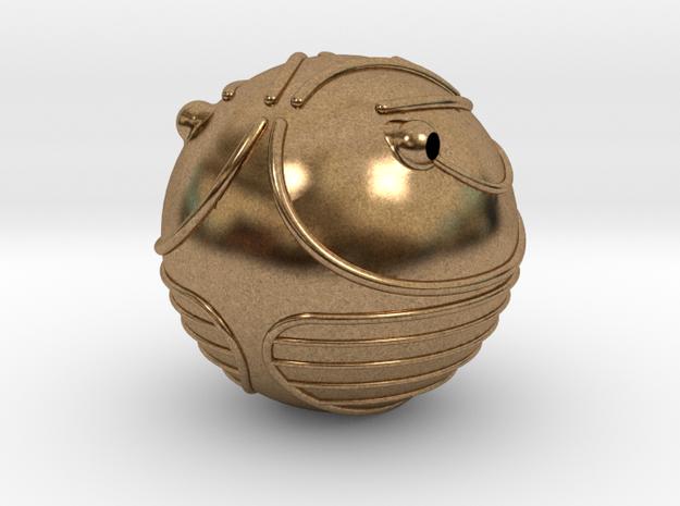 Golden Snitch (Miniature) in Natural Brass