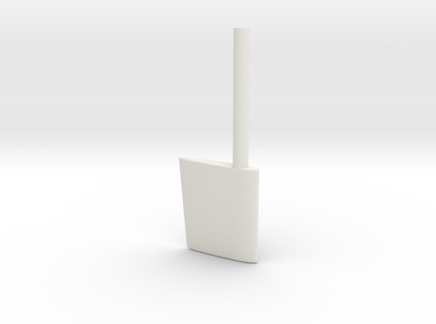 SBoot wing rudder 24th in White Natural Versatile Plastic