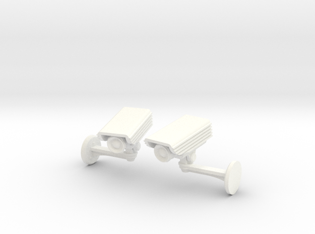 CCTV surveillance camera cufflinks 3d printed