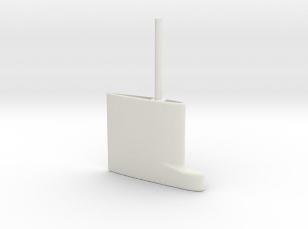 SBoot main rudder 16th in White Natural Versatile Plastic